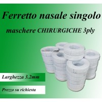 Ferretto nasale singolo per mascherine chirurgiche 3ply