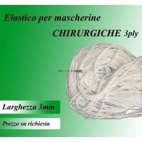 Elastico per mascherine chirurgiche 3ply