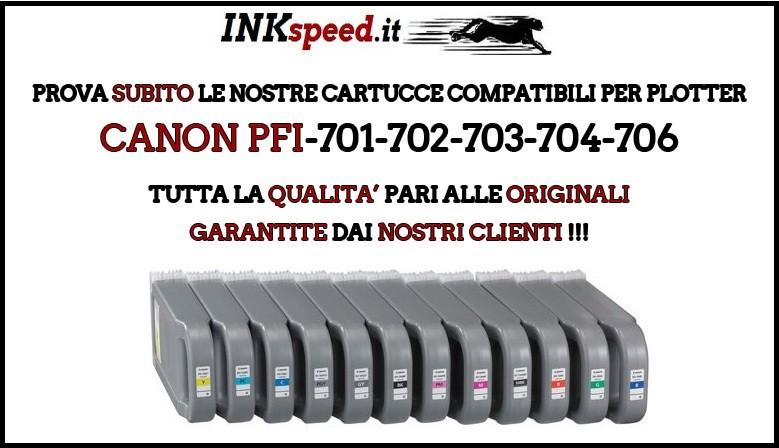 CARTUCCE COMPATIBILI CANON PFI 701 702 703 704 706