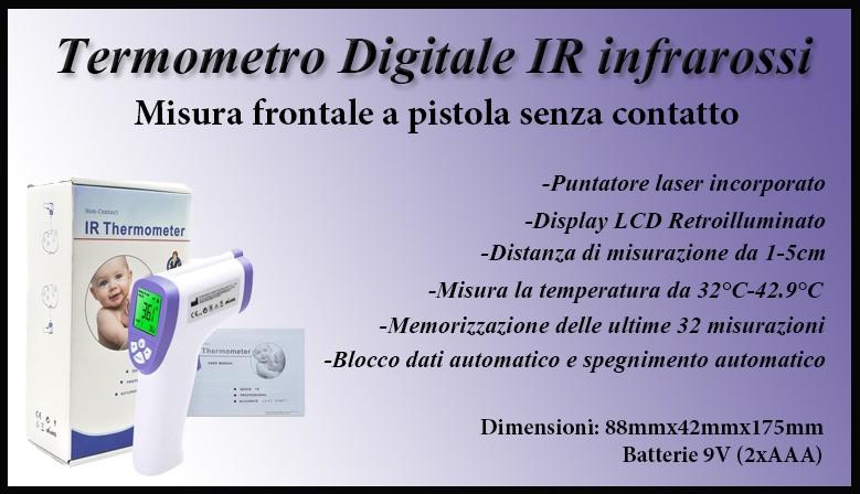Termometro Digitale IR infrarossi senza contatto